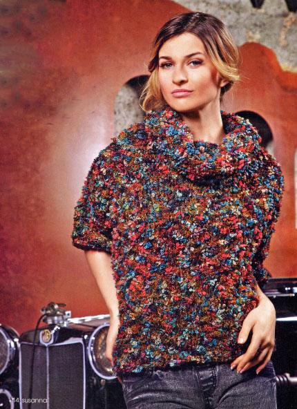 Вязание спицами пуловер женский