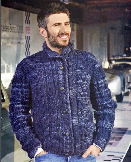 Вязание для мужчин: Мужской вязаный жакет