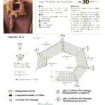 схемы вязаные шарфы 2012 1