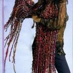 вязаные шарфы из ленточной пряжи