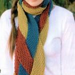 вязаные зимние шарфы