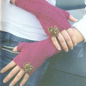 вязание перчаток без пальцев