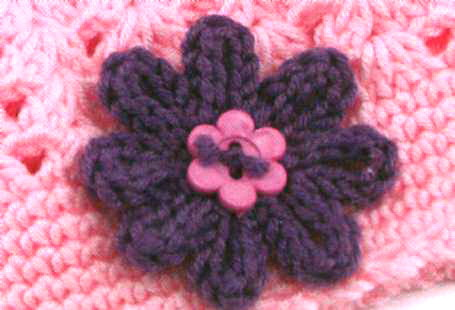 вязаный цветок схема