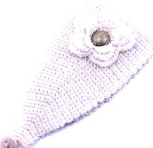 повязка на голову для девочки вязаная крючком