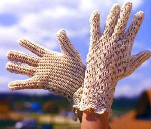 ажурные перчатки крючком