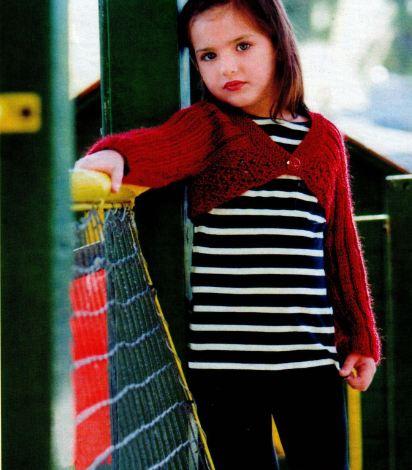 вязание спицами детское болеро