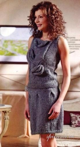 вязаные юбки спицами со схемами