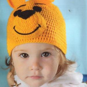 вязание крючком шапочки детям схема
