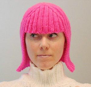 вязаная шапка парик