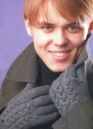 вязание мужских перчаток спицами
