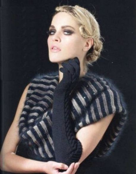 шарф хомут схема вязания спицами