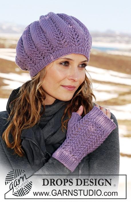 схемы вязания перчаток без пальцев