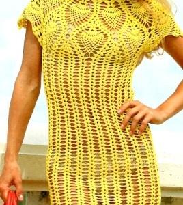 вязанные платья фото