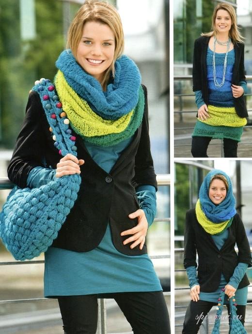 вязание шарфиков схемы