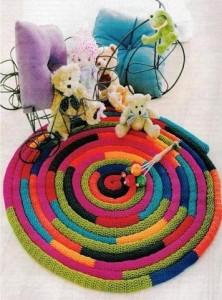 вязаные коврики своими руками для пола крючком