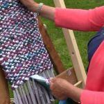 Вязаные коврики из лоскутков ткани своими руками.