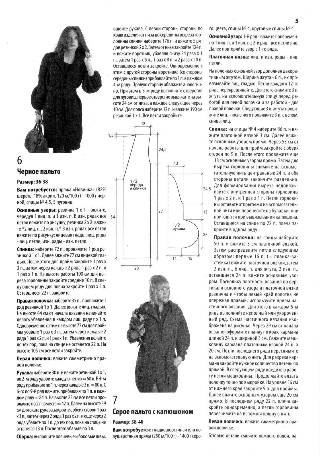 фиолетовых связать женское пальто спицами с описанием фото этих