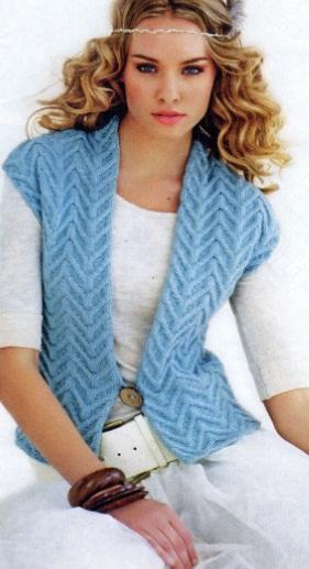 Вязание жилетов и безрукавок спицами (5 красивых моделей)