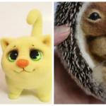 Валяние из шерсти: мастер-классы по валянию кота и ежика