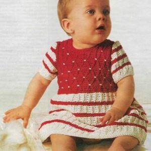 Вязаное платье до года