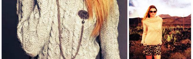 вязаный свитер женский спицами фото