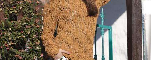 Летний свитер спицами