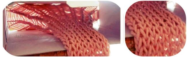 Как связать шарф при помощи коробки