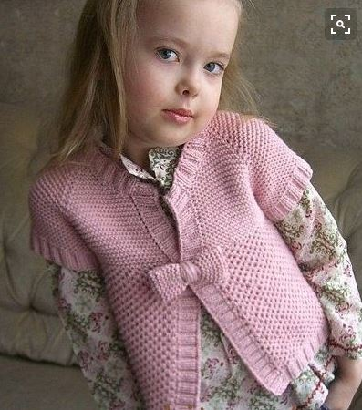 Розовая стильная кофточка для девочки