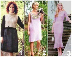 вязаные платья спицами для женщин