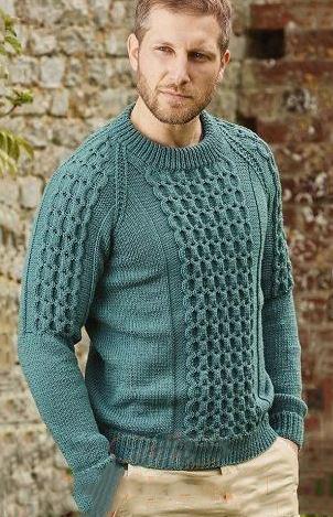 Вязаный мужской свитер реглан