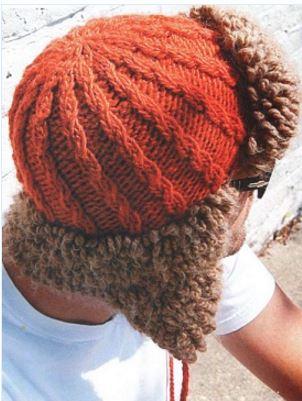 Вязаная мужская шапка-ушанка