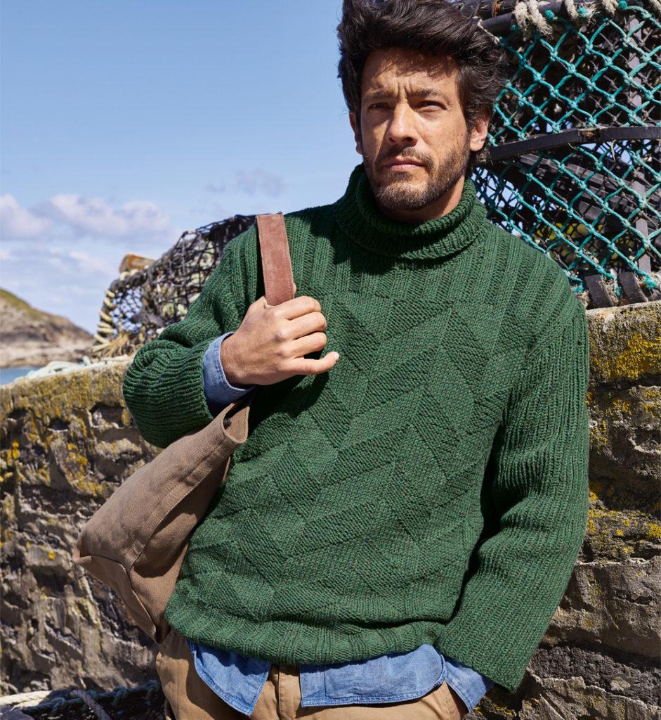 как связать мужской пуловер спицами