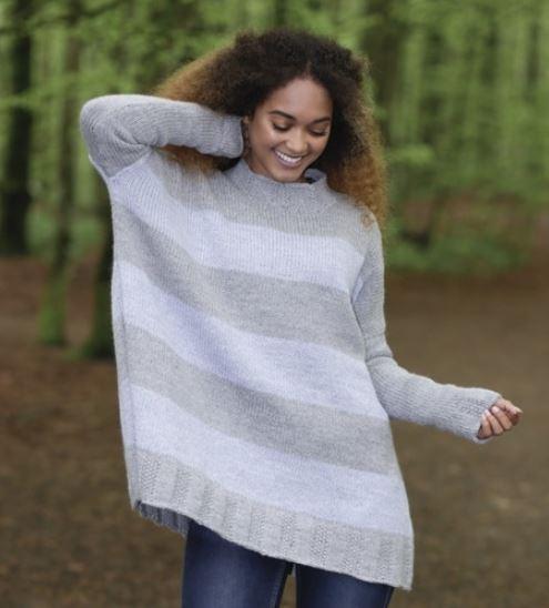 вязаные модели свитеров оверсайз