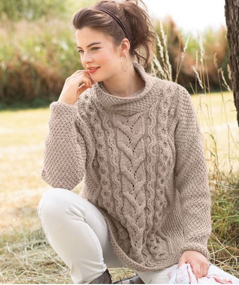 вязаный свитер оверсайз фото