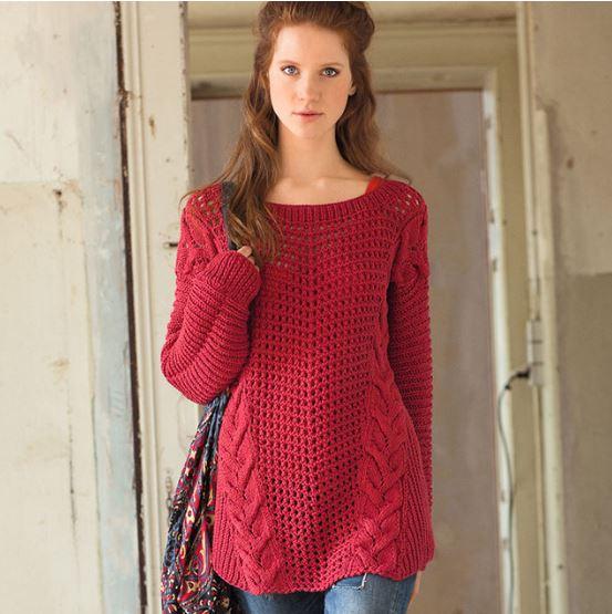 вязаный свитер оверсайз схемы