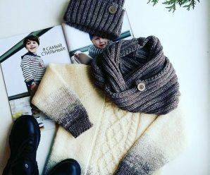 Идеи модных вязаных свитеров для мальчиков и девочек