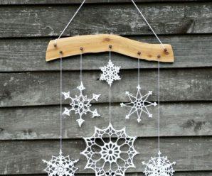 Вязаные снежинки крючком, схемы и описание