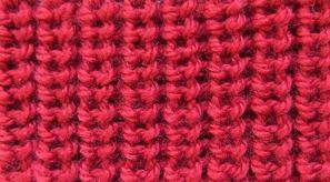 Жемчужная резинка спицами — схема вязания