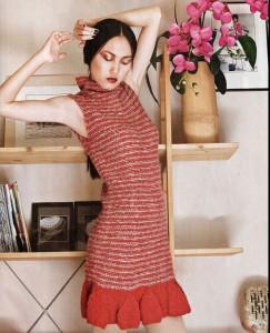 вязаные платья спицами со схемами