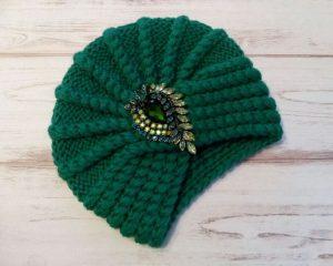шапка чалма спицами схемы