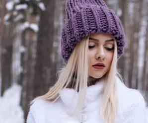 10 вязаных шапок с отворотом, схемы и описания