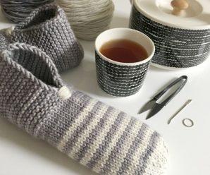 35 идей вязания тапочек спицами, уроки и мастер-классы для начинающих