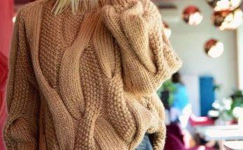 свитер спицами с оксами