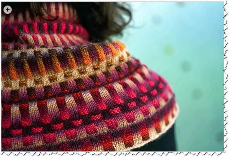 вязание цветной резинки