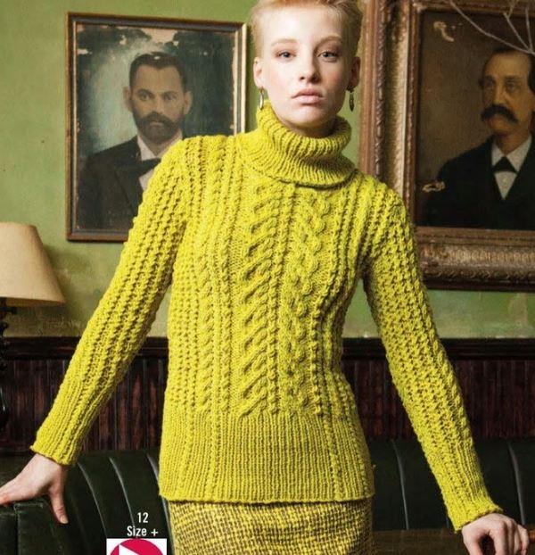 свитер косы спицами