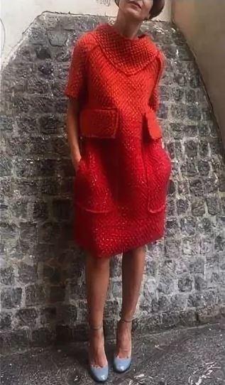 платье крючком с карманами