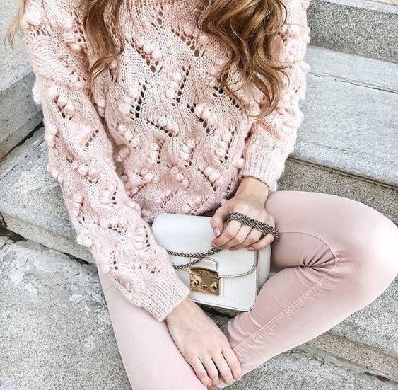 свитер спицами оверсайз