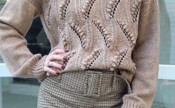 свитер спицами женский