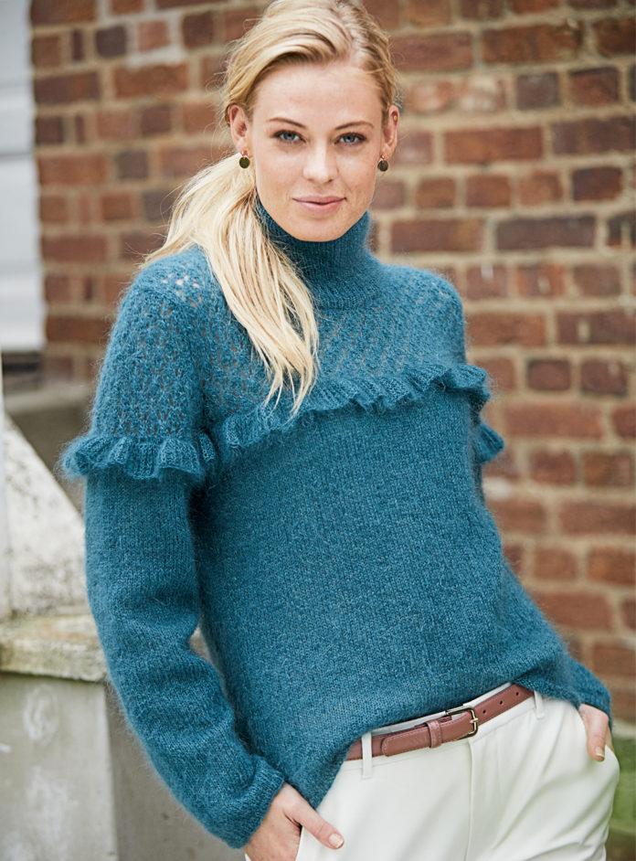 свитер из мохера спицами