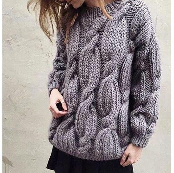 свитер косами спицами